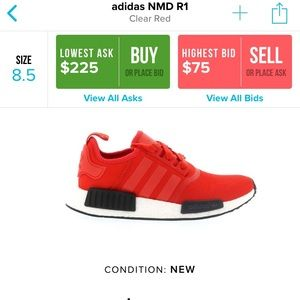 """best sneakers c6abd 93277 adidas Shoes - Adidas NMD R1 """"Clear Red"""""""